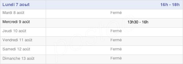 horaires d'ouverture de la Mairie De Varenne-Saint-Germain