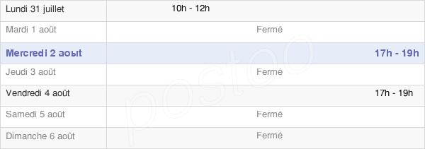 horaires d'ouverture de la Mairie De Saint-Mard-De-Vaux