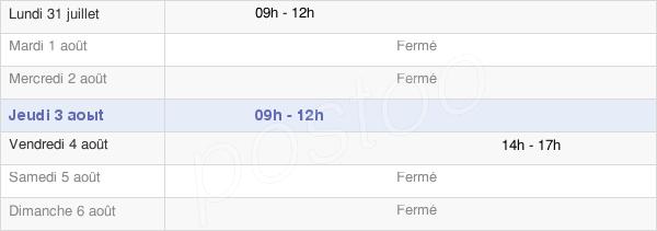 horaires d'ouverture de la Mairie De Mont-Saint-Vincent