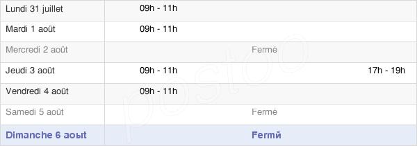 horaires d'ouverture de la Mairie De Jambles