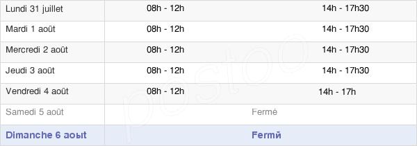horaires d'ouverture de la Mairie D'Étang-Sur-Arroux