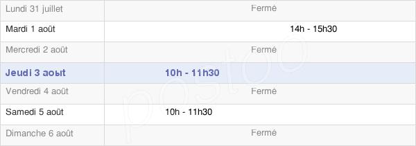 horaires d'ouverture de la Mairie De Lays Sur Le Doubs