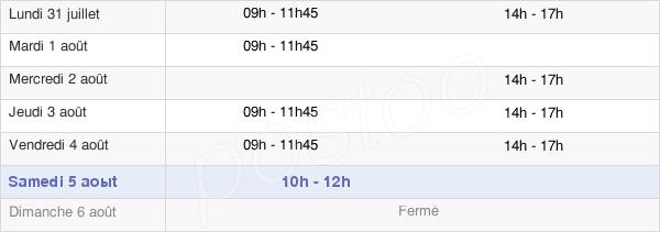 horaires d'ouverture de la Mairie De Saint-Pierre-De-Varennes
