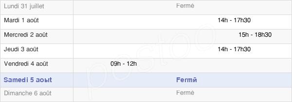 horaires d'ouverture de la Mairie De Beaubery