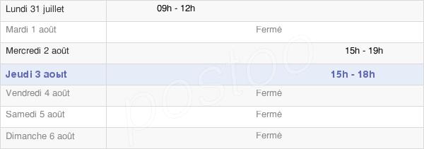 horaires d'ouverture de la Mairie De Ciel