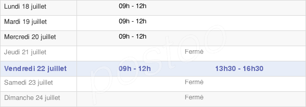 horaires d'ouverture de la Mairie De Montbellet