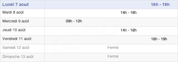 horaires d'ouverture de la Mairie De Lacrost