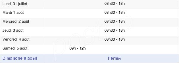horaires d'ouverture de la Mairie De Mâcon