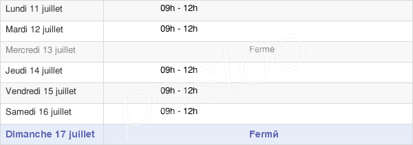 horaires d'ouverture de la Mairie D'Igornay