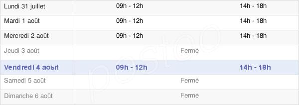 horaires d'ouverture de la Mairie De Lessard-Le-National