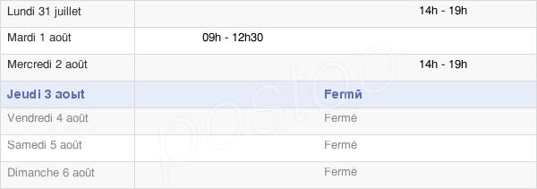 horaires d'ouverture de la Mairie D'Ozolles