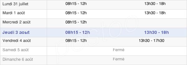 horaires d'ouverture de la Mairie De Saint Eusèbe