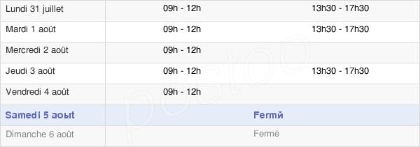 horaires d'ouverture de la Mairie De Vendenesse-Sur-Arroux