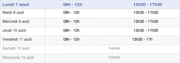 horaires d'ouverture de la Mairie Du Creusot