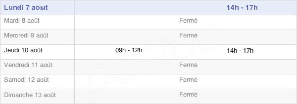 horaires d'ouverture de la Mairie De Saint-Martin-Du-Tartre