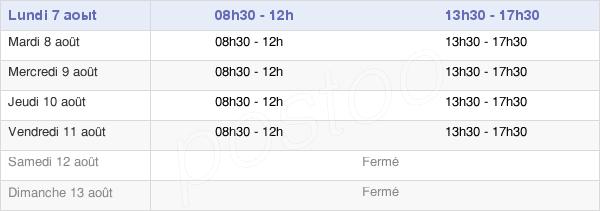 horaires d'ouverture de la Mairie De Varennes-Saint-Sauveur