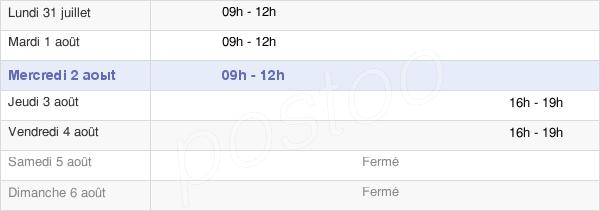 horaires d'ouverture de la Mairie De Saint-Vincent-Bragny
