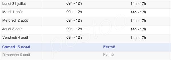horaires d'ouverture de la Mairie De Demigny