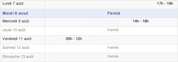 horaires d'ouverture de la Mairie D'Authumes