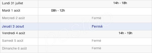horaires d'ouverture de la Mairie De Lessard-En-Bresse