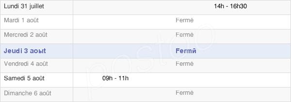 horaires d'ouverture de la Mairie De Montcoy