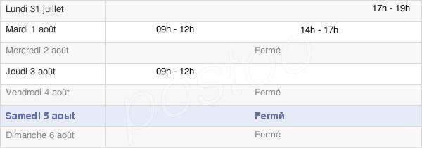 horaires d'ouverture de la Mairie De Baugy