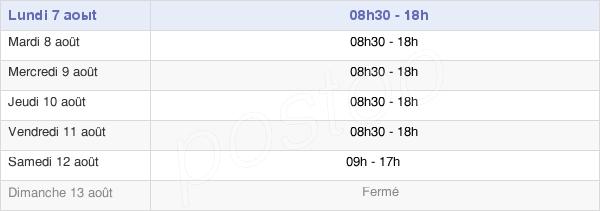 horaires d'ouverture de la Mairie De Chalon-Sur-Saône