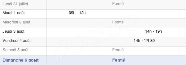 horaires d'ouverture de la Mairie De Messey-Sur-Grosne