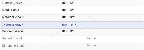 horaires d'ouverture de la Mairie De L'Abergement-Sainte-Colombe