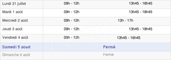 horaires d'ouverture de la Mairie De Saint-Gengoux-De-Scissé