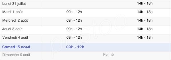 horaires d'ouverture de la Mairie De Miremont