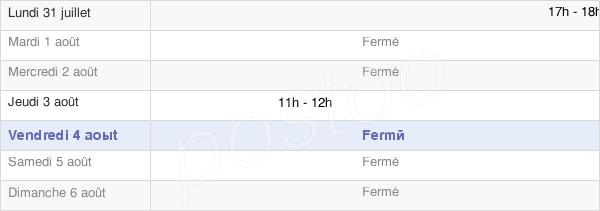 horaires d'ouverture de la Mairie De Longepierre
