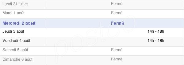 horaires d'ouverture de la Mairie De Saint-Sernin-Du-Plain