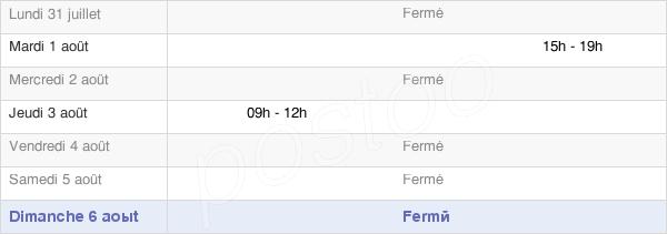 horaires d'ouverture de la Mairie De Versaugues