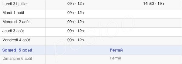 horaires d'ouverture de la Mairie D'Uchizy