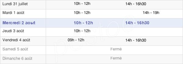 horaires d'ouverture de la Mairie De Romenay