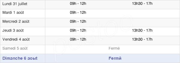horaires d'ouverture de la Mairie De Saint-Usuge