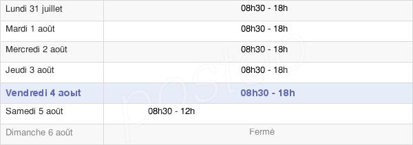 horaires d'ouverture de la Mairie De Blagnac