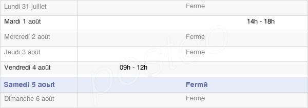 horaires d'ouverture de la Mairie De La Chapelle-Du-Mont-De-France