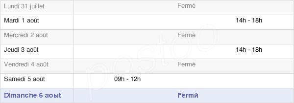 horaires d'ouverture de la Mairie De Coublanc