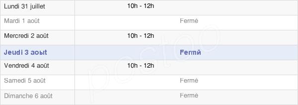 horaires d'ouverture de la Mairie De Berzé-La-Ville