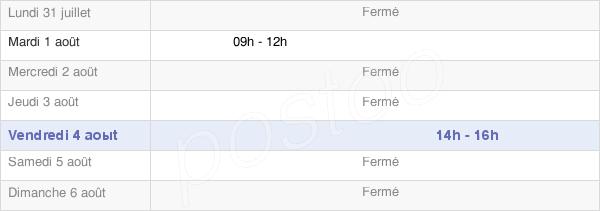 horaires d'ouverture de la Mairie De Saint-Micaud