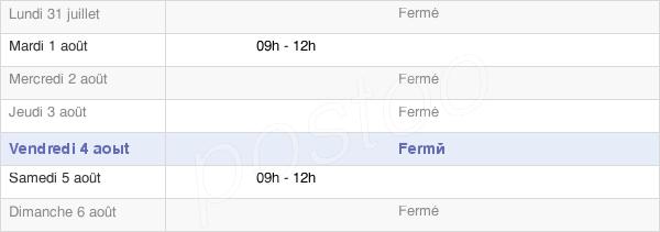 horaires d'ouverture de la Mairie De Sainte-Hélène