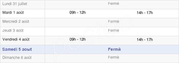 horaires d'ouverture de la Mairie De Thurey