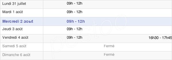 horaires d'ouverture de la Mairie De Viré