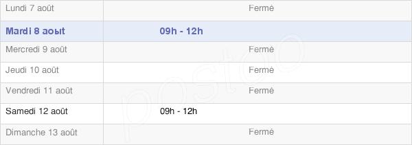 horaires d'ouverture de la Mairie De Saint-Didier-En-Brionnais