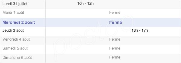 horaires d'ouverture de la Mairie De Saint-Germain-En-Brionnais