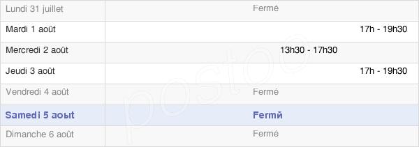 horaires d'ouverture de la Mairie De Saint-Romain-Sous-Gourdon