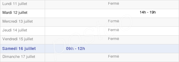 horaires d'ouverture de la Mairie De Milly-Lamartine