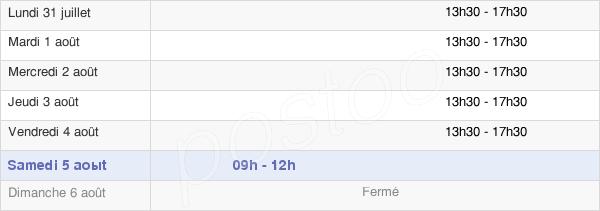horaires d'ouverture de la Mairie De Dracy-Le-Fort